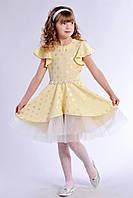 Нарядное детское платье на выпускной желтого цвета