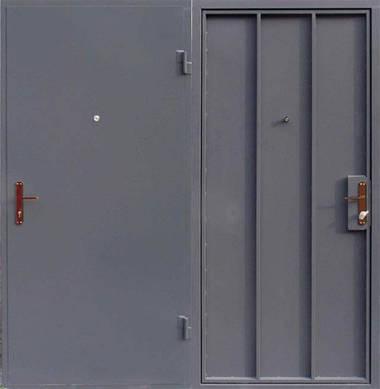 Металлическая входная - техническая  дверь сталь 1.5мм. замок Арико(с ручкой)