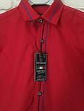 Рубашка красная для мальчиков на рост 98-122, фото 3
