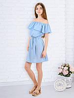 Женское платье с воланом PR7702