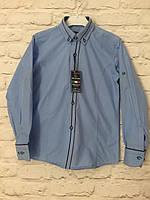 Рубашка голубая для мальчиков на рост 128-152
