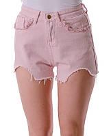 Модные женские джинсовые шорты с асимметричным низом с карманами с бахромой