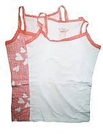 Майка трикотажная для девочки, ( 2 шт. в упаковке), размеры 122/128, Peppers, арт. 274485