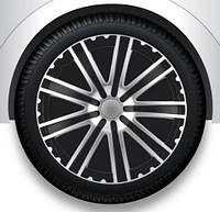 Колпаки Argo TORO black silver R13