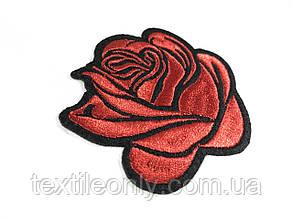 Нашивка Роза бутон красная, фото 2
