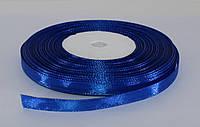 Лента атласная. Цвет - синий. Ширина - 0,7см, длина - 23 м