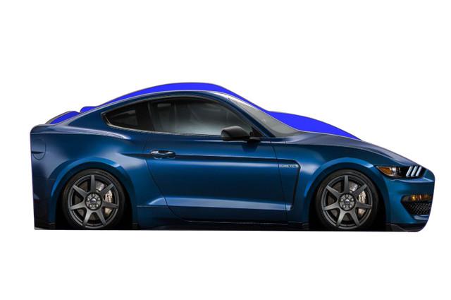 Кровать Форд мустанг синяя