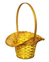 Корзина для цветов желтая 32х25,5 см