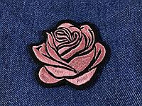 Нашивка Роза бутон розовая