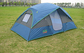Четырёхместная двухслойная палатка Green Camp Coleman 1100