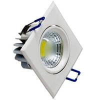 Светодиодный светильник Horoz (HL679L) 5W 2700K квадратный белый поворотный Код.57660