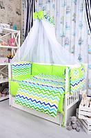 Набор постельного белья в детскую кроватку Bepino Польша Зигзаги