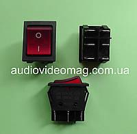 Кнопочный выключатель 28.5 х 22 мм, 20А 250V, 6 контактов