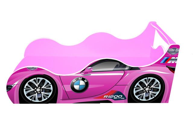 Кровать машинка серии Драйв БМВ розовая