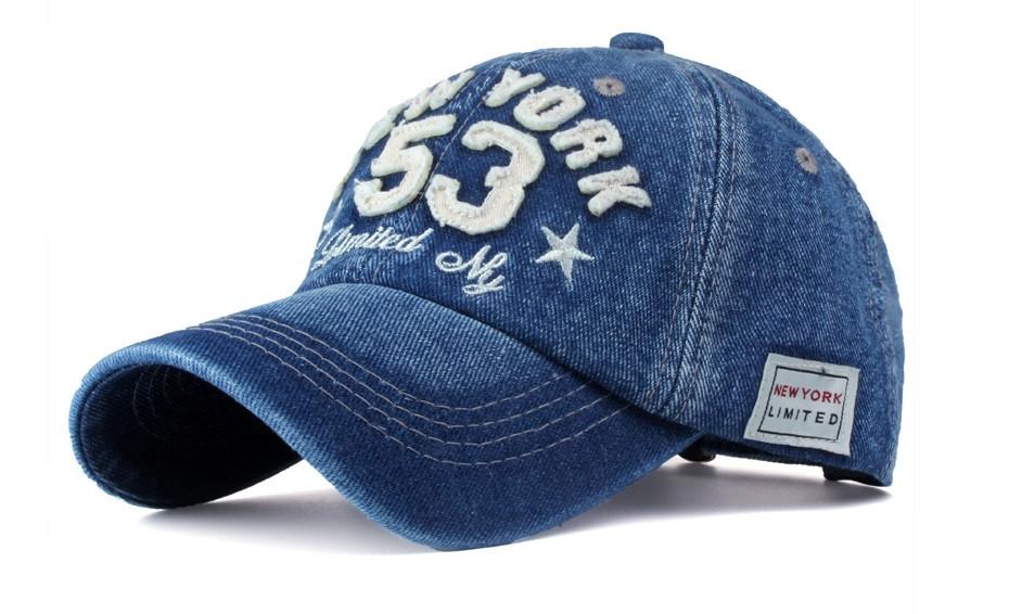Джинсовая бейсболка New York 53
