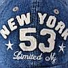 Джинсовая бейсболка New York 53, фото 4