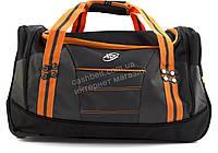 Стильная яркая вместительная удобная дорожная сумка на колесиках RUXINDA art. №1 оранжевая/черная