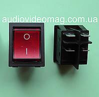 Кнопочный выключатель 28.5 х 22 мм, 20А 250V, 4 контакта