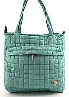 Спортивная стильная женская стеганая сумка Б/Н art. AX08 бирюзовая