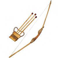 Лук буковий 1м зі чохлом для стріл та три стріли