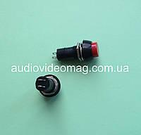 Кнопка с фиксацией  250V 3A, круглая, диаметр 11,65 мм