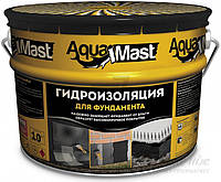 Мастика битумная Aquamast для фундамента 10 кг