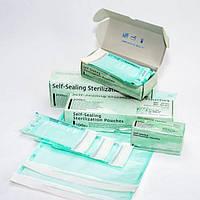 Самоклеящиеся пакеты для для паровой и ЕО стерилизации Steridiamond 90х165 мм, №200