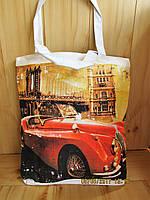 Сумка летняя женская print city retro car
