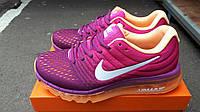 Женские беговые кроссовки Air Max 2017 бордовые для зала и фитнеса