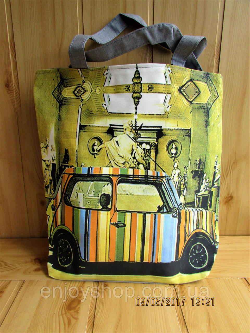 Сумка летняя женская print city retro car 2