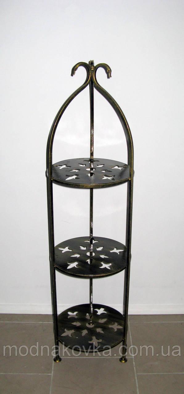 Полка (этажерка) кованая круглая 3