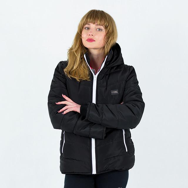 Куртка весна осень женская черная однотонная