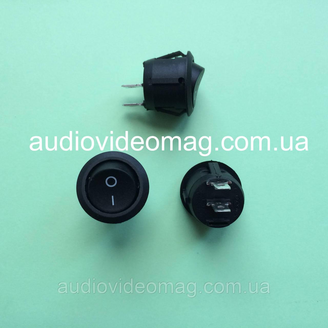 Переключатель клавишный , диаметр 20.3 мм, чёрный, без подсветки