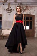 Вечернее женское  платье, сзади удлинение, платье хорошо держит форуму. Розница, опт в Украине.