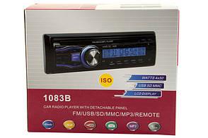 Автомагнитола 1083B Евро фишка, фото 3