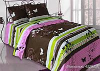 Полуторное постельное белье Бязь люкс Мотыльки