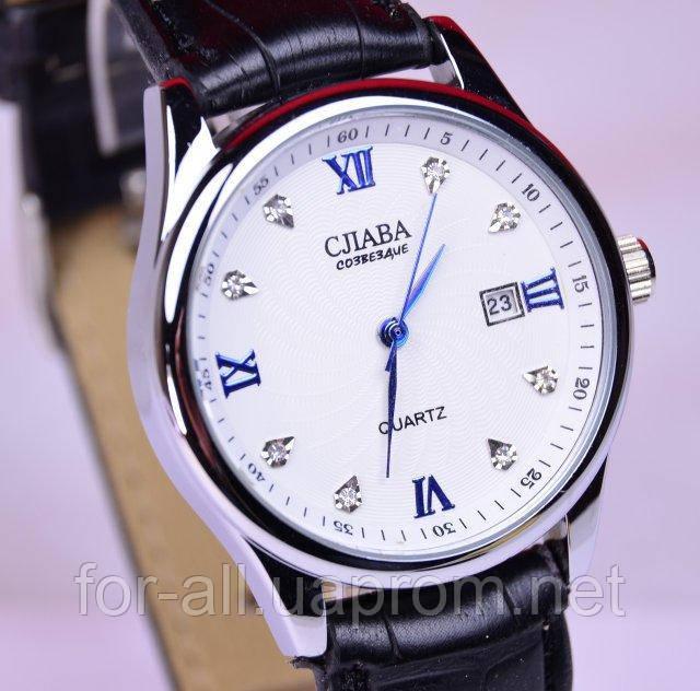 782bc877 Мужские кварцевые часы Слава С6437 в интернет-магазине Модная ...
