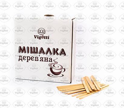 Мішалка дерев'яна для гарячих напоїв