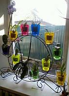 Колесо, подставка для цветов на 12 чаш