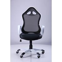 Кресло Матрикс-2 Белый, сиденье Сетка черная/спинка Сетка черная (AMF-ТМ)