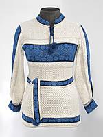 Вышиванка женская синяя 0509 / Вишиванка жіноча синя 0509
