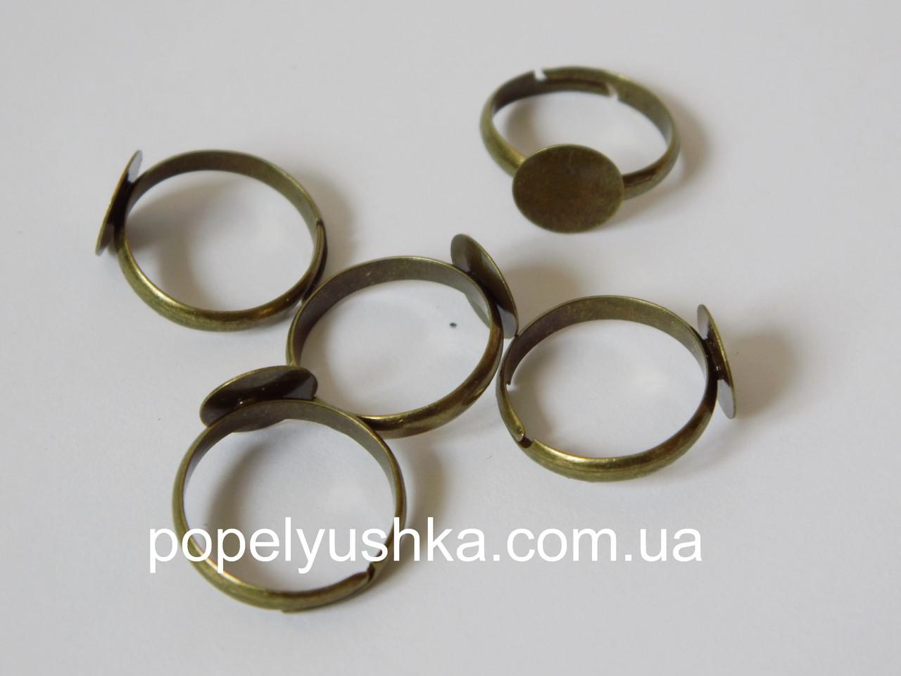 Перстень  10 мм. Бронза