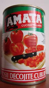 Помидоры консервированные Amata Pomodori Pelati, 400 гр.