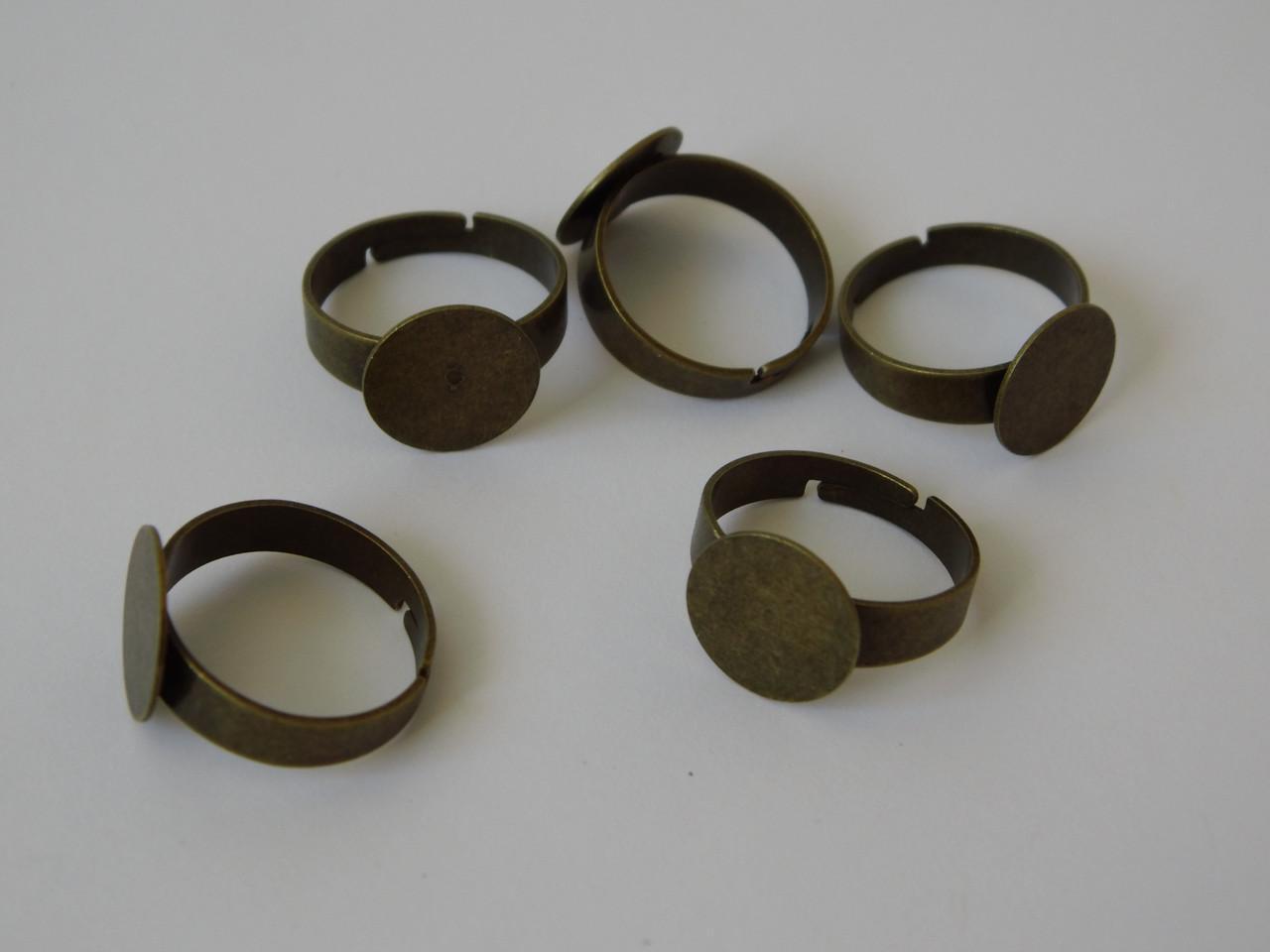 Перстень  12 мм. Бронза