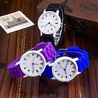 Женские наручные часы с силиконовым ремешком - 5 цветов - кварцевые