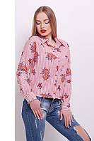 Женская хлопковая блузка в полоску