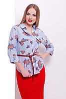 Красивая летняя блузка из 100% хлопка
