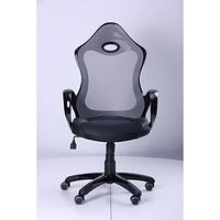 Кресло Матрикс-1 Черный, сиденье Сетка черная/спинка Сетка серая (AMF-ТМ)