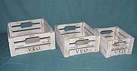 Комплект ящиков деревянных органайзер, фото 1