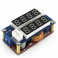 Модуль зарядки, Понижающий преобразователь XL4005 XL4005E1 XL4015 5A с вольт/амперметром CC/CV/LED, фото 1